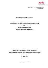 Rechenschaftsbericht - AGVU