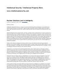 Intellectual Security / Intellectual Property News ... - Deep Capture