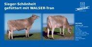 Brown Swiss und WALSER® Tran deutsch - Walser + Co. AG