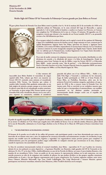 Medio Siglo del Último GP de Venezuela - Spor Car