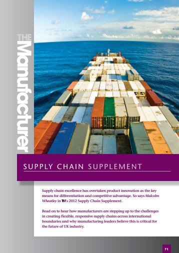 SUPPLY CHAIN SUPPLemeNt - The Manufacturer.com