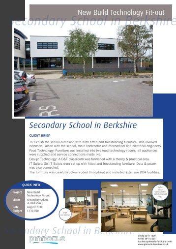 Secondary School in Berkshire - Pinnacle Furniture