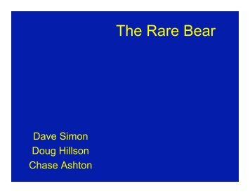 The Rare Bear - the AOE home page