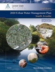 Draft Report 2010 Urban Water Management Plan—South Arcadia