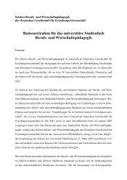 Basiscurriculum für das universitäre Studienfach Berufs- und ...