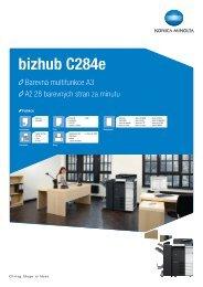 Prospekt bizhub C284e, PDF - MSD spol. sro