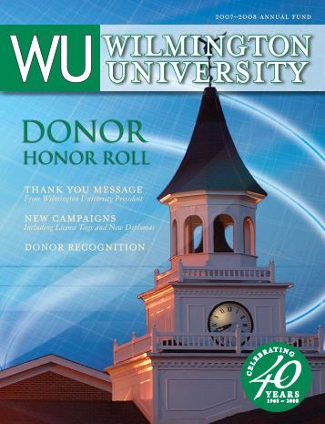 hONOr rOll - Wilmington University