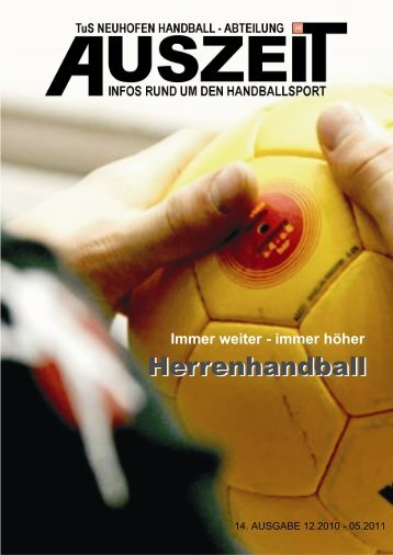 Ausgabe Dezember 2010 - Handball TuS Neuhofen