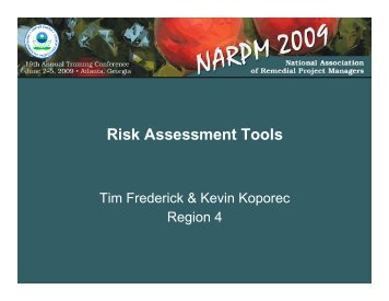Risk Assessment Tools - Overview