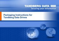 Packaging instructions for Tape Drives - Tandberg Data
