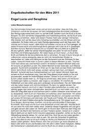 Engelbotschaften für den März 2011 Engel Lucia ... - Engels-oase.net