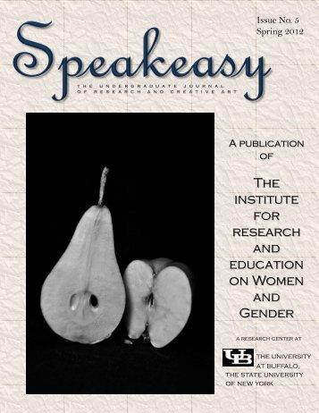Speakeasy - Gender Institute - University at Buffalo