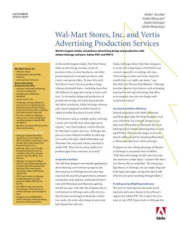 Wal-Mart Stores, Inc. and Vertis Advertising Production ... - Training