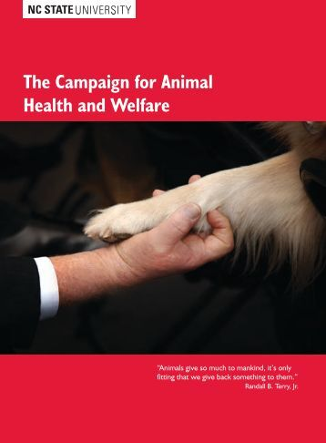 The Campaign for Animal Health and Welfare - North Carolina State ...