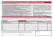 Initiative - Verein Wildtierschutz Schweiz