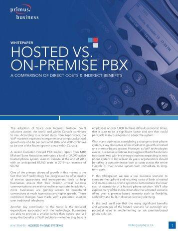 HOSTED VS. ON-PREMISE PBX - IT World Canada
