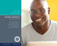 2010 Online Programs Brochure - National University