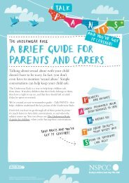 A brief guide for parents and carers - nspcc