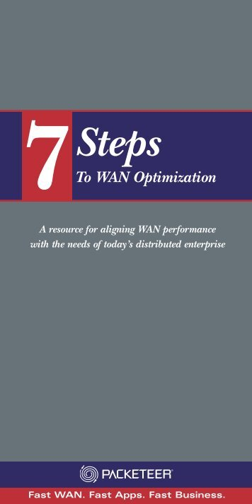 Packeteer: 7 Steps to WAN Optimization - Data Networks