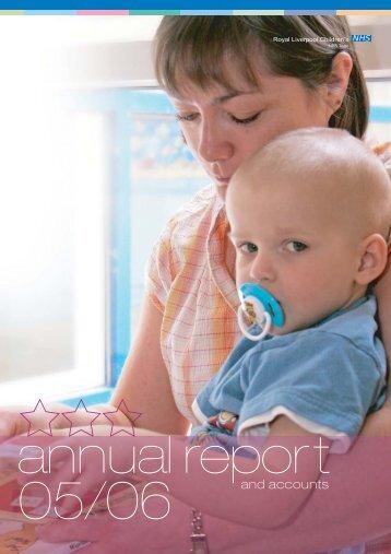 Annual Report 2005-6 - Alder Hey Childrens Hospital