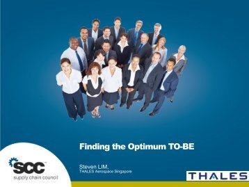 Finding the Optimum TO-BE - Supply Chain Council