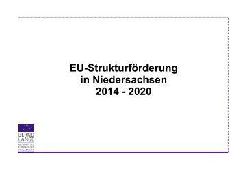 EU-Strukturförderung in Niedersachsen 2014 bis 2020 - Bernd Lange
