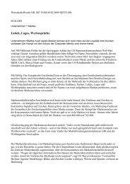 Labels, Logos, Werbesprüche - Institut für Markentechnik Genf