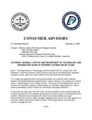 consumer advisory - Delaware's Department of Technology and ...