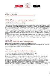 1 VENERDI' 16 NOVEMBRE A cura delle Associazioni Nazionali di ...