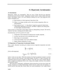 11. Hypersonic Aerodynamics - the AOE home page - Virginia Tech