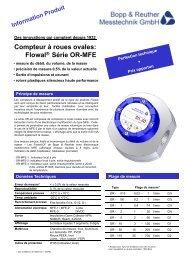 Compteur à roues ovales - Bopp & Reuther Messtechnik Gmbh