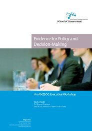 Evidence for Policy and Decision-Making - Australia and New ...