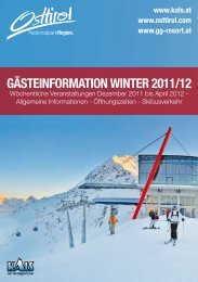 Gästeinformation Winter 2011/12 - Kitz.Net
