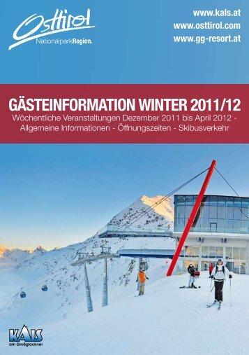 Gästeinformation Winter 2011/12 - Kitz.Net
