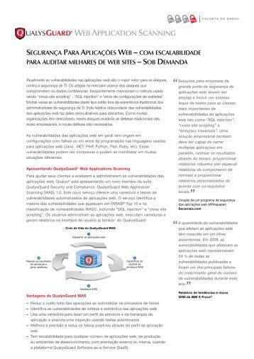 Faça o download do folder Qualys Vulnerability Web ... - Site Blindado