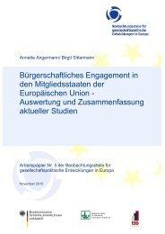 Bürgerschaftliches Engagement in den Mitgliedsstaaten der ... - APA