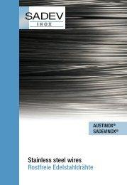 Laden Sie die Broschüre - Sadev Edelstahl
