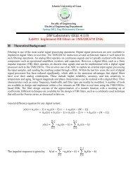 Finite Impulse Response (FIR) Filters
