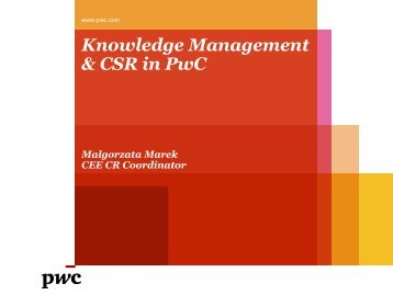 Knowledge Management & CSR in PwC