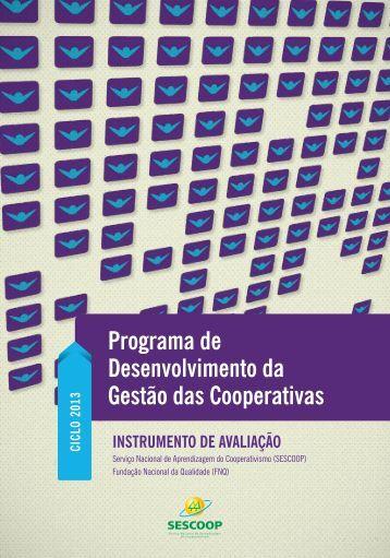 Programa de Desenvolvimento da Gestão das Cooperativas - PDGC