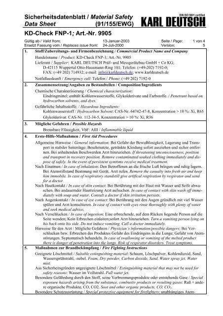 KD-Check FNP-1; Art.-Nr. 9905 - ARNEZEDER