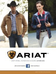 ariat® apparel, Footwear and aCCessories AUTUMN 2012