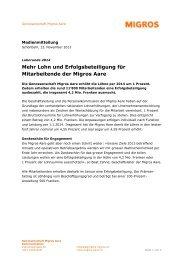 Migros Aare - Wirtschaftsraum Bern