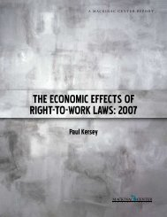 The economic effecTs of RighT-To-WoRK LaWs ... - Mackinac Center