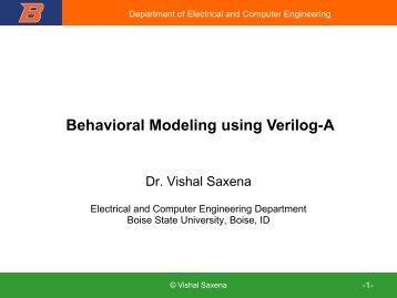 VerilogA Modeling