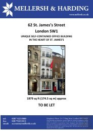 62 St. James's Street London SW1 - Mellersh & Harding