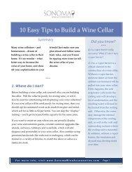 10 Easy Tips to Build a Wine Cellar - Sonoma Wine Accessories