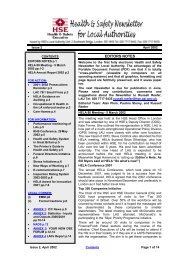 health and safety newsletter for local authorities april 2002