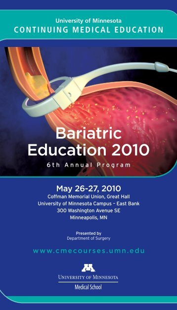 Bariatric Education 2010 - University of Minnesota Continuing ...