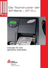 Die Tischdrucker der AP-Serie – AP 5.x - Avery Dennison